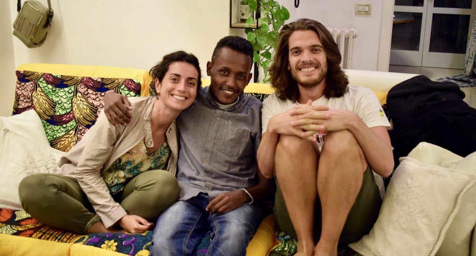 Mantova: così Paolo e Francesca hanno accolto Ahmed