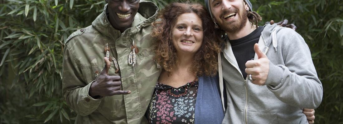 Amadou, Patrizie e Davide: un anno passato assieme